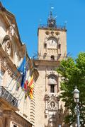 clock tower aix-en-provence - stock photo