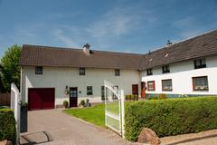 typical farmhouse in dutch limburg - stock photo