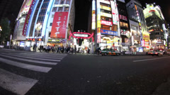 Shinjuku crosswalk - stock footage