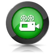 video camera icon - stock illustration
