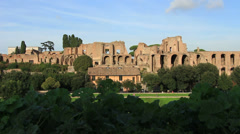 Sunny day at Circo Massimo in Rome Stock Footage