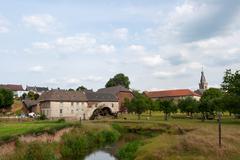 village wijlre in dutch limburg - stock photo