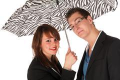 Under the umbrella Stock Photos
