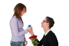 will you marry me? - stock photo