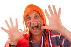 Dutch soccer fan Stock Photos