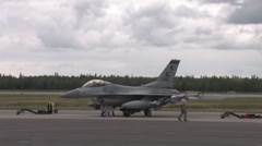 F-16 Fighting Falcon at Red Flag Alaska Stock Footage