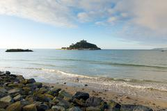 St Michaels Mount Cornwall England - stock photo