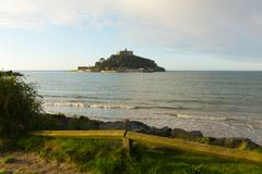 St Michaels Mount Marazion Cornwall England medieval castle - stock photo