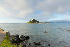 St Michaels Mount Cornwall - stock photo