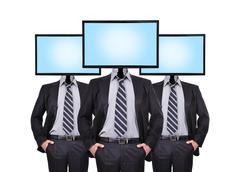 three businessman - stock illustration