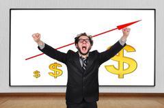 Crazy  businessman Stock Photos