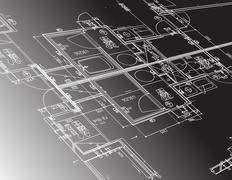 Arkkitehtuuri suunnitelma oppaan kuvitus design Piirros