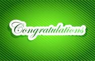 Stock Illustration of congratulations sign card illustration design