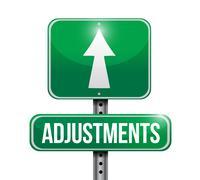 Stock Illustration of adjustments road sign illustration design