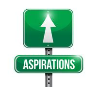 Stock Illustration of aspirations road sign illustration design
