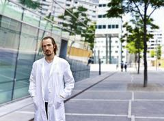 Confident and smart scientist or doctor Stock Photos