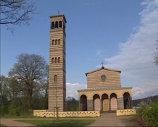 Campanile and Part of the Western Front, Church of the Redeemer, Sacrow, Berlin Stock Footage