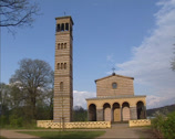 Stock Video Footage of Campanile and Part of the Western Front, Church of the Redeemer, Sacrow, Berlin
