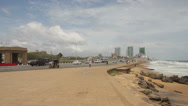 Stock Video Footage of Galle Face Green Colombo