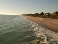 Aerial Florida beach 03 - stock footage
