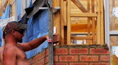 Australian bricklayers Stock Footage