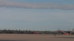 Flight line and KC-135 Take off Red Flag Alaska Stock Footage