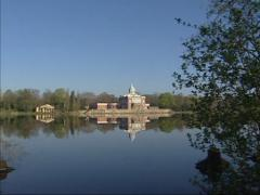 Holy Lake pan New Garden with palace kitchen building and Marble Palace, Stock Footage