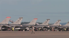 Flight line at  Red Flag Alaska Stock Footage