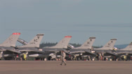 Stock Video Footage of Flight line at  Red Flag Alaska