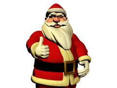 Santa claus is wishing good luck Stock Illustration