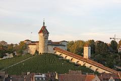 Medieval Castle Munot in Schaffhausen, Switzerland Stock Photos