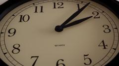 Black wall clock Timelapse - stock footage