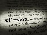 Stock Photo of Stock Media - Dictionary - Vision - Black On BG