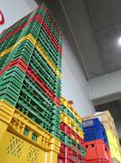 Colour plastic boxes Stock Photos