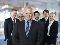 Group of six business partners Stock Photos