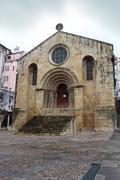 sao tiago church in coimbra, portugal - stock photo