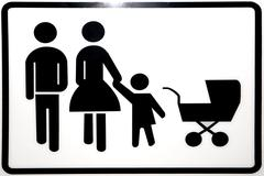 Pictogram for father, mother and child Stock Photos