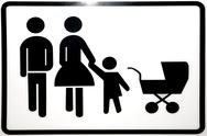 Stock Photo of Pictogram for father, mother and child