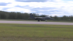 F-15 Eagle taking off at Red Flag Alaska Stock Footage