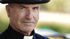 Catholic priest - stock footage