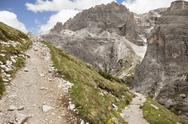 Stock Photo of Italy, South Tyrol, Dolomites, Alta Pusteria, Mountainscape with trekking path