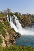 Turkey, Antalya Province, Lower Dueden Falls Stock Photos
