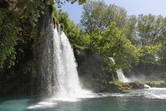 Turkey, Antalya Province, Upper Dueden Falls Stock Photos