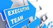 Stock Illustration of Executive Team on Blue Arrow.