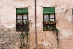 Coquettish window, granada, Andalusia, spain Stock Photos