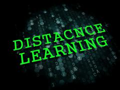 Stock Illustration of Distance Learning. Business Educational Concept.