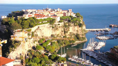 Aerial view of the Prince's Palace, Monaco Stock Footage