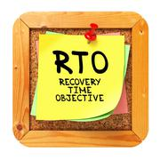 Stock Illustration of RTO . Yellow Sticker on Bulletin.