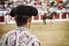 Spanish bullfighter in the bullring, jaén,  andalusia, spain Stock Photos