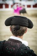 Spanish bullfighter in the bullring, jaén,  andalusia, spain Stock Photos